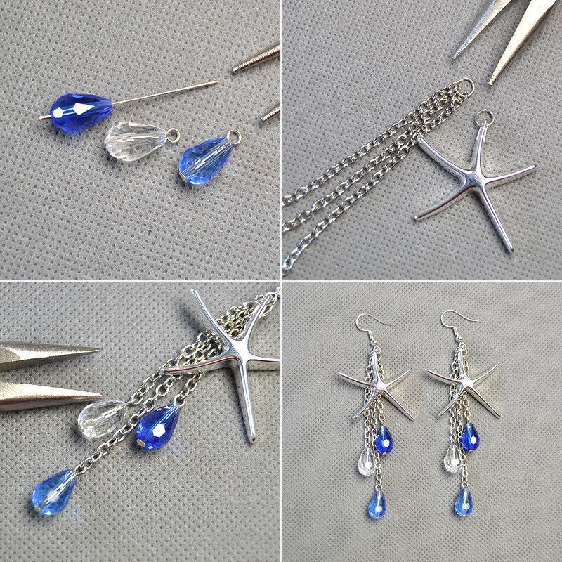 pandahall-diy-craft-on-brass-starfish-pendants-earrings-with-drop-glass-beads-dangles02