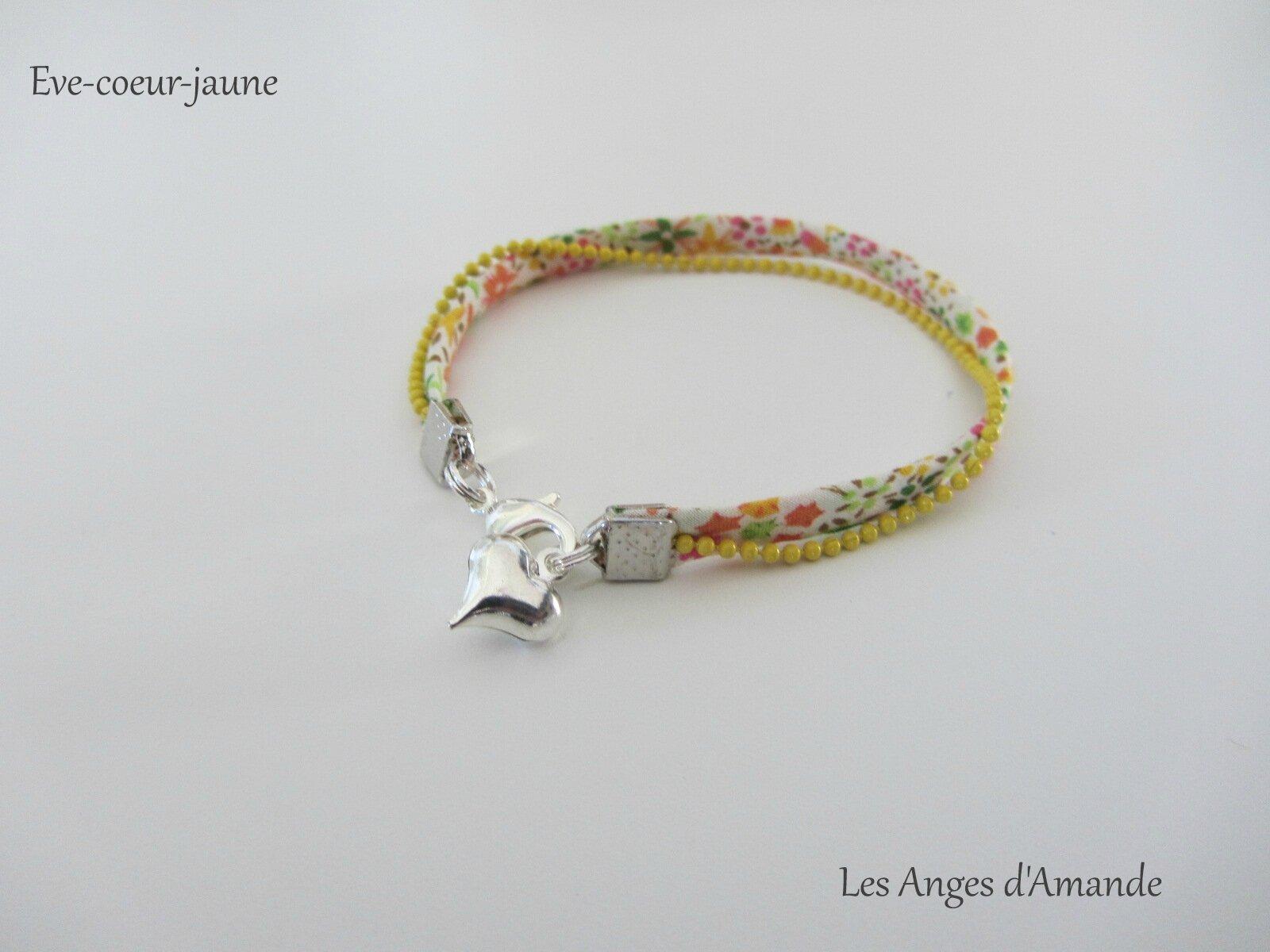 bracelet Eve-coeur-jaune
