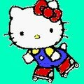 HELLO KITTY EN ROLLER