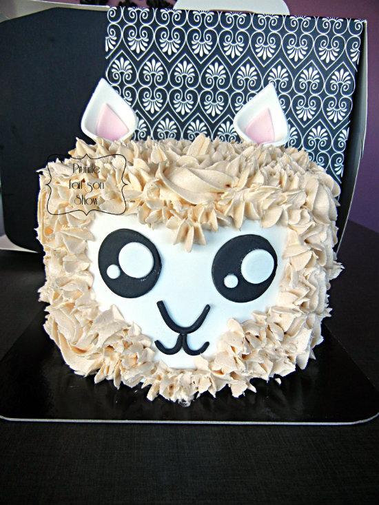 Lama cake - Gateau lama et ses macarons assortis