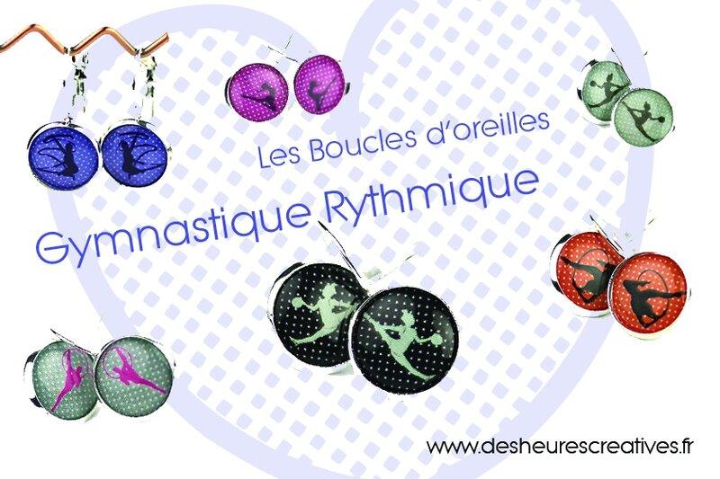 boucles d'oreilles gymnastique rythmique cadeau GR