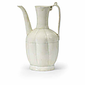A qingbai-glazed lobed ewer, Song Dynasty (960-1279)