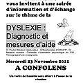 Journée des dys 2011 : intervention à confolens, en partenariat avec le cio