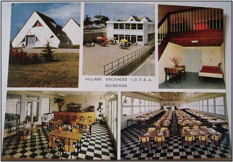 Quiberon - presqu'ile - village IGESA - datée 1973