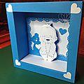 Kirigami : le cadre original de naissance bébé fille ou garçon