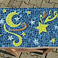 Mosaïque table de chevet 2
