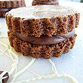 Biscuits au chocolat, fourrés au chocolat: la tentation au carré