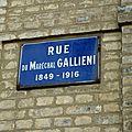 Rue Maréchal Gallieni.