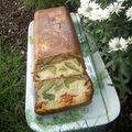 Cake courgettes, chèvre et chorizo