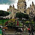 Sur la butte Montmartre.