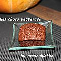 Brownies choco-betterave
