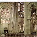 Troyes - la cathédrale - transept et rose méridionale