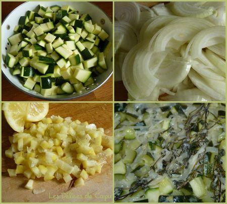 Tarte au confit de courgettes et parmesan