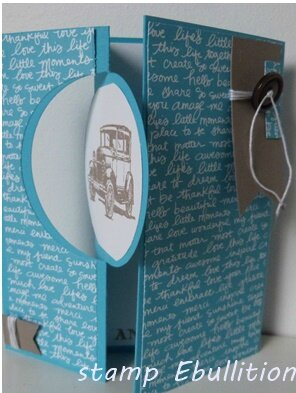 carte voiture stampin up