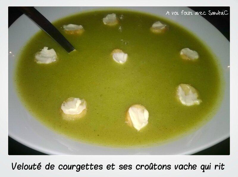 Velouté courgettes crouton vache qui rit