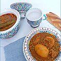 Market jelbana - ragoût de petits pois - مرقة جلبانة