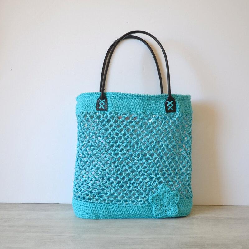 Sac crochet façon filet- la chouette bricole-tuto Crochet (8)