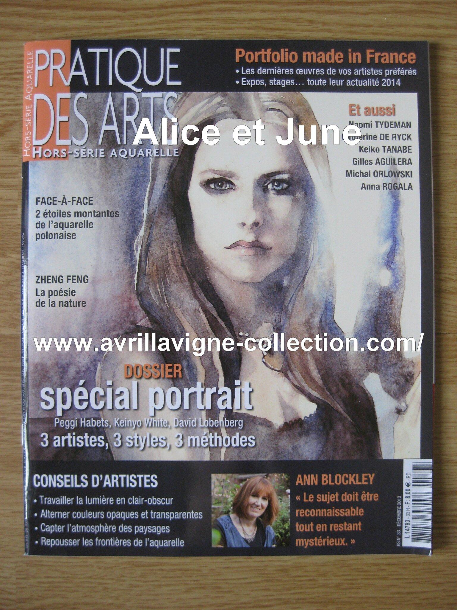 Pratique des arts magazine-aquarelle Avril Lavigne (décembre 2013)