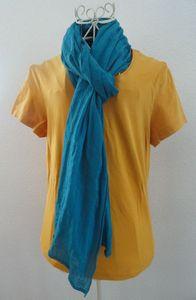 Echarpe turquoise