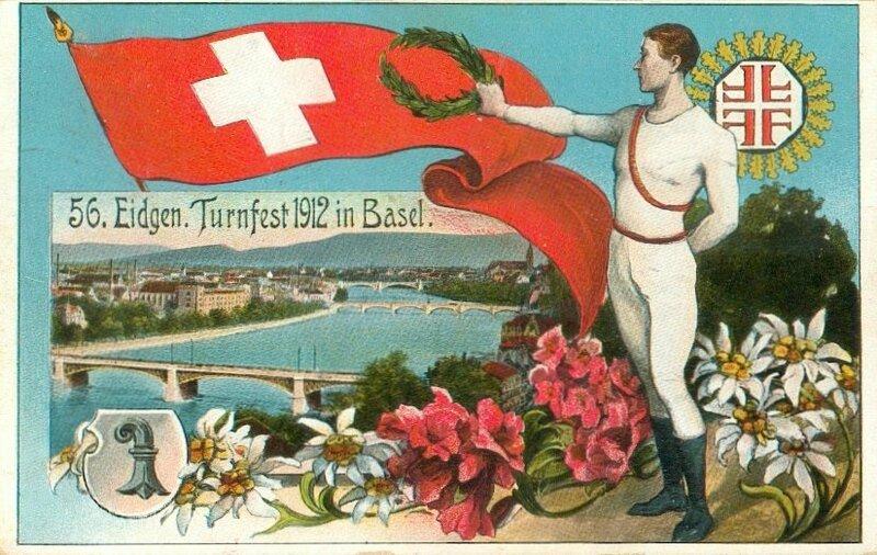 CPA Bâle Fête fédérale de gymnastique 1912