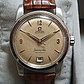 Rare Omega Seamaster - date à 6h - 1953
