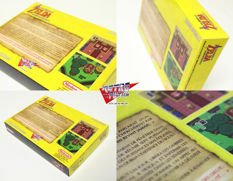 retro vers le futur Zelda packaging