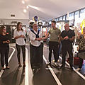 Visite du champion de rallye raphaël astier au musée des sports