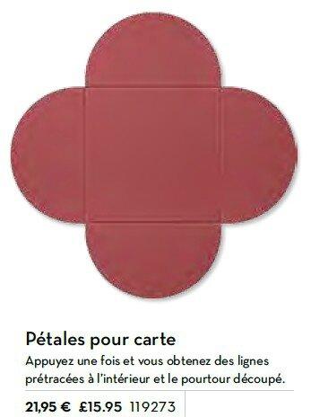 p183 perfo pétales pour carte