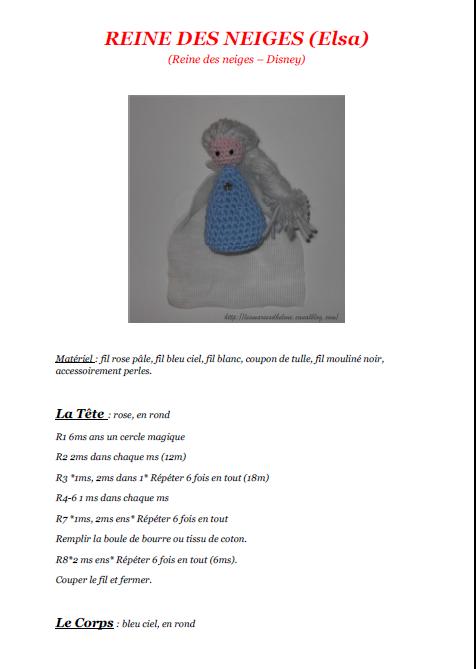 REINE DES NEIGES - Elsa Tuto gratuit au Crochet