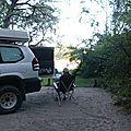 40-camp site au bord de l'Okavango, près de Bagani
