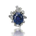 A sapphire and diamond ring, by meister