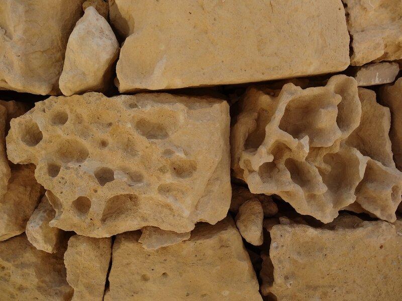 Les pierres de la citadelle de Victoria (Gozo)
