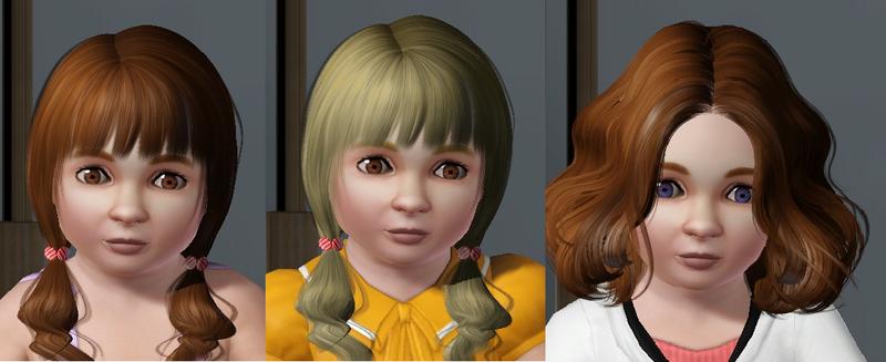 Jumelles bambine Gaia et Gretel comparaison avec leur maman bambine
