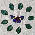 Broder un papillon
