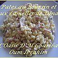 Pates au boursin et aux lamelles de dinde. france-maroc