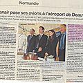Ryanair veut atterrir à deauville: une bonne nouvelle pour la normandie ?