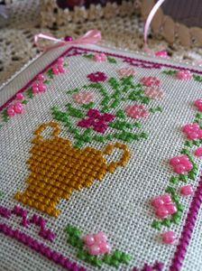 pinkeep punto croce vaso fiori perline (12)