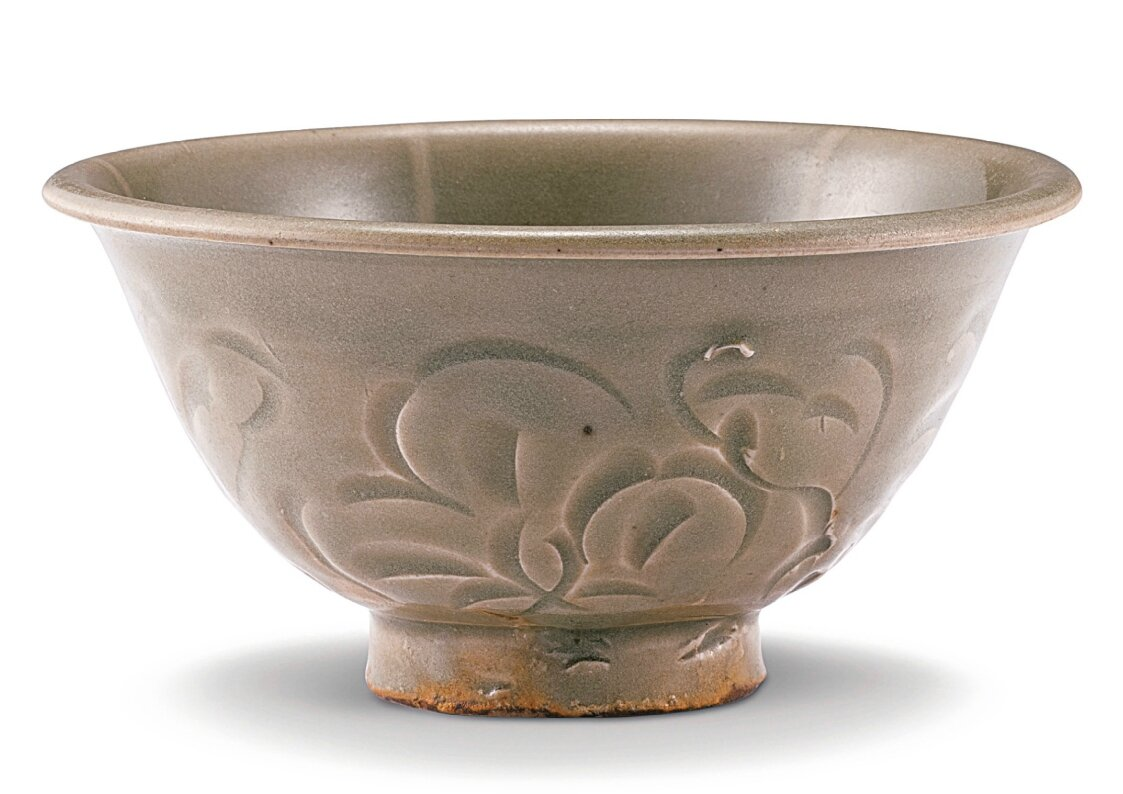 A carved Yaozhou bowl, Northern Song dynasty (960-1127)