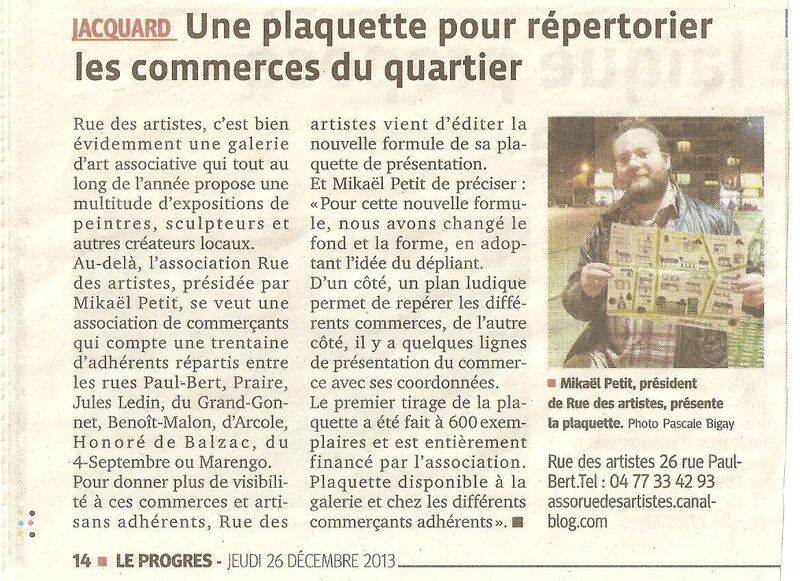 article plaquette commerçants