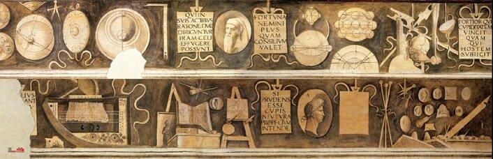 frise des arts libéraux - vue longue - fin XVe s