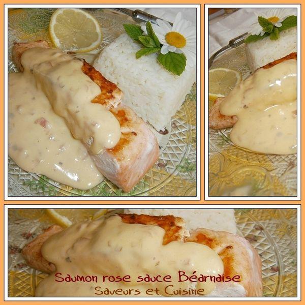 Pavé de saumon rose, sauce Béarnaise