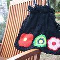 Des fleurs sur un sac