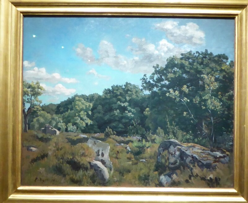 Bazille Paysage de Chailly