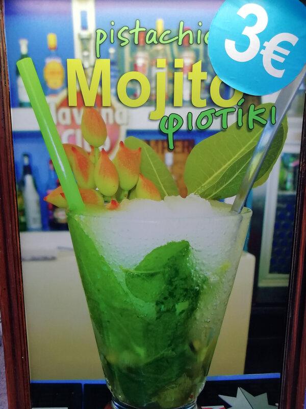 fête pistache cocktail mojito