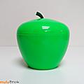 Objet vintage ... seau à glaçons pomme verte