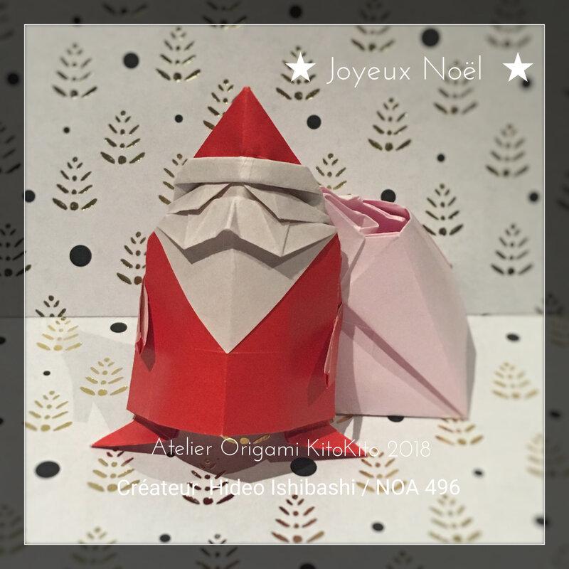 Atelier Origami KitoKito Père Noël 5