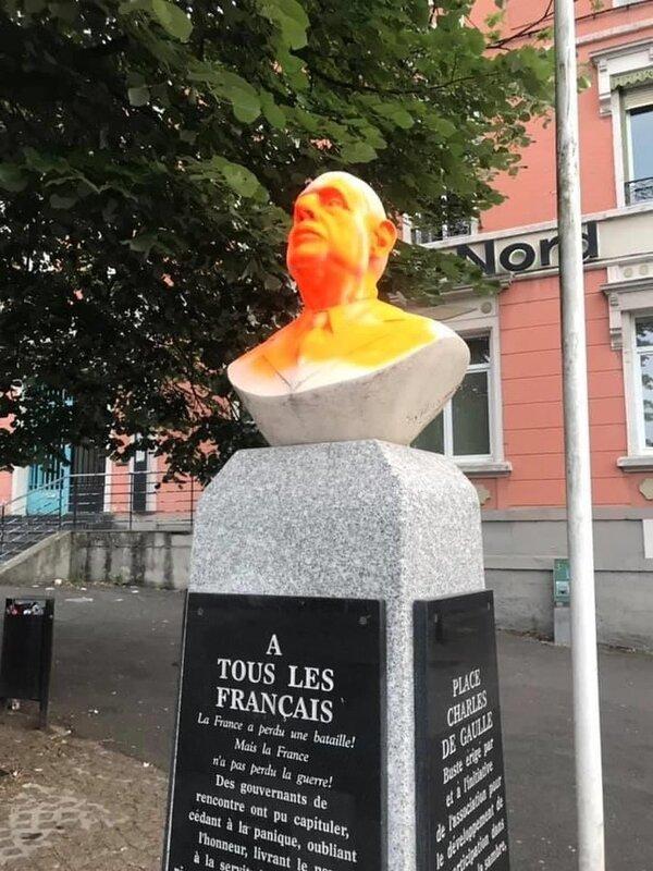 De Gaulle vandalisé