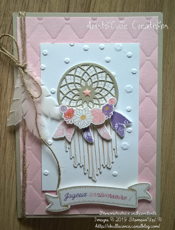 Carte anniversaire dreamcatcher - 9 sept 19