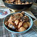 Pâtes à la ricotta et aux aubergines