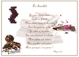 poème le chocolat